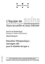 messages clés pour le diabète de type 2 - CHU Toulouse