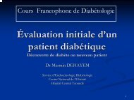 Evaluation Initiale D'un Patient Diabetique