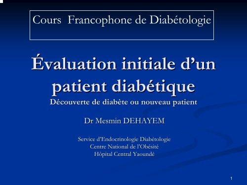 Evaluation Initiale D'un Patient Diabetique