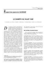 Le diabète du sujet âgé (avec la SFG) - Alfediam