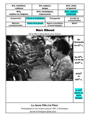 Marc Riboud - la jeune fille à la fleur