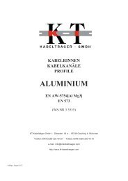 Alu Katalog - KT Kabelträger GmbH