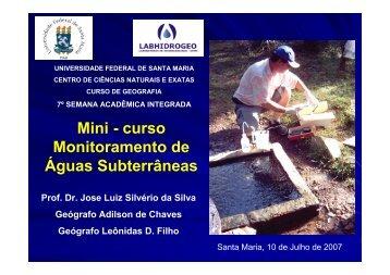 Mini - curso Monitoramento de Águas Subterrâneas - UFSM