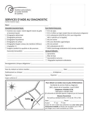 prescription - services d'aide au diagnostic - imagerie diagnostique ...