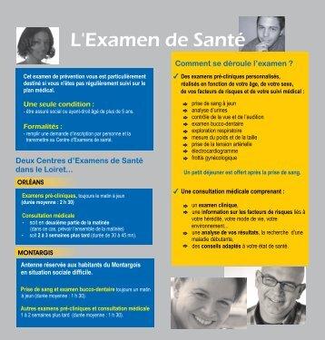Examen de santé - Infodroitssociaux45.fr