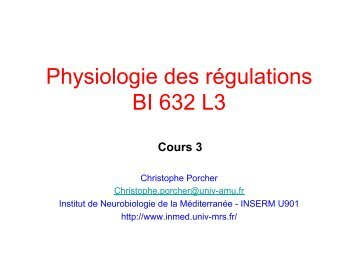 Cours 3 Physio L3 2013