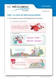 La carte de Noël personnalisée - Oxford University Press España