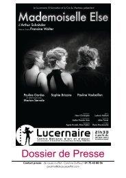 Dossier de Presse - Atelier Premier Acte