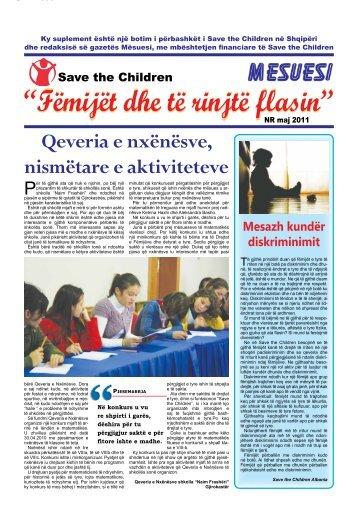 Fëmijët dhe të rinjtë flasin - Save The Children : Albania