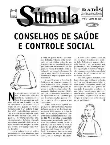 CONSELHOS DE SAÚDE E CONTROLE SOCIAL - UFSM