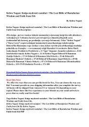 Kebra Nagast. Kniga mydrosti rastafari / The Lost Bible of ...