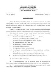 Government of West Bengal Higher Education Department ...