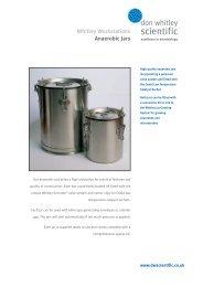 Anaerobic Jars Brochure - Don Whitley Scientific