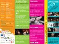 Programmation Janv>Juin 2013 (pdf) - Le Chantier