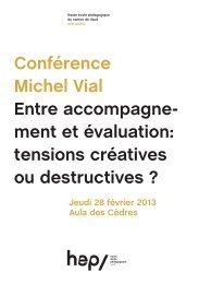 Conférence Michel Vial Entre accompagne- ment et ... - HEP Vaud