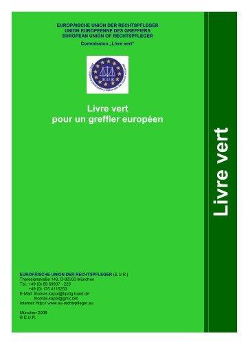 Livre vert du greffier européen