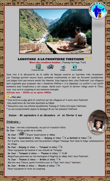 Langtang, frontière tibétaine - Parfum d'Aventure