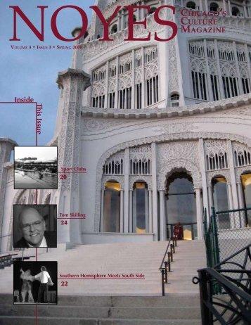 Inside Th is Issu e - NOYES Magazine - University of Chicago