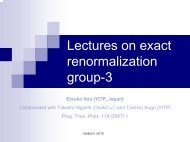 Lectures on exact renormalization group-3