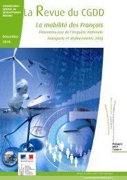 la mobilité des Français - Ministère du Développement durable