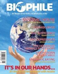 B io ph ile Issu e 18 - Biophile Magazine