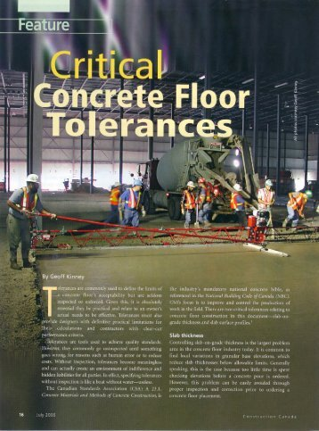 Critical Concrete Floor Tolerances - Concrete Floor Contractors ...