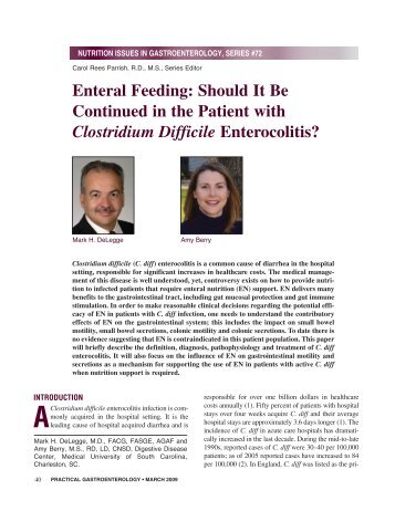 Enteral Feeding: Should It Be Continued in the Patient ... - Medicine