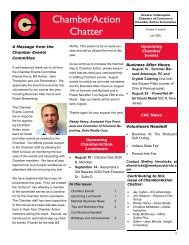 ChamberAction Vol 4, Issue 6 - Newsletter Authority Customized ...