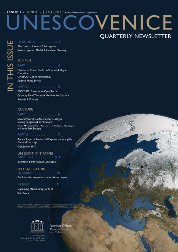 UNESCOVENICE Newsletter issue 2 2010