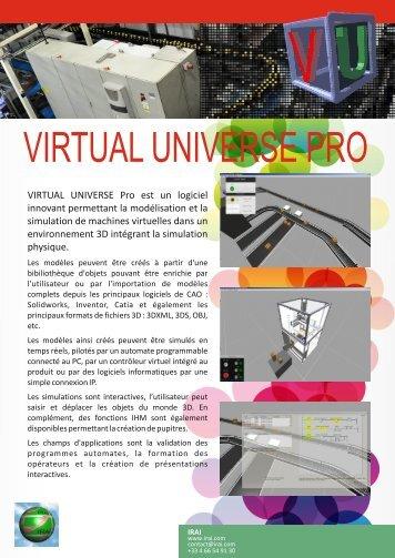 Télécharger la brochure commerciale de Virtual Universe Pro