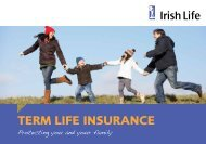 Term Life Insurance booklet - Irish Life
