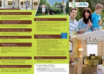 Téléchargez la brochure carte d'hôte en PDF - Aix-les-Bains