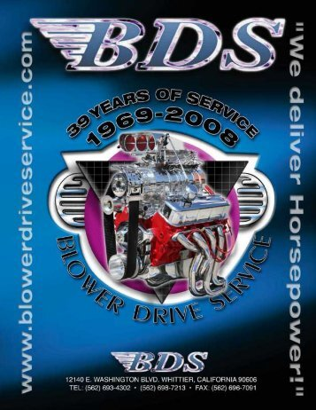 Download the BDS Catalog - Blower Drive Service