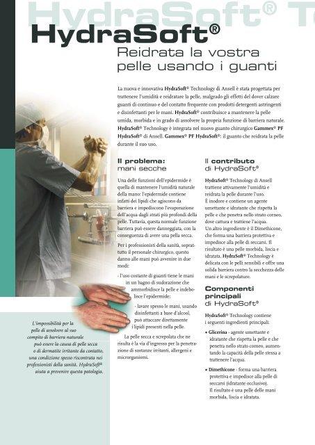 Hydrasoft® Technology - Ansell Healthcare Europe