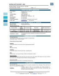 MATERIAL SAFETY DATA SHEET – MSDS Product Name ... - WEG