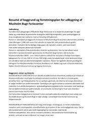 Forretningsplan - Musholm Bugt Feriecenter