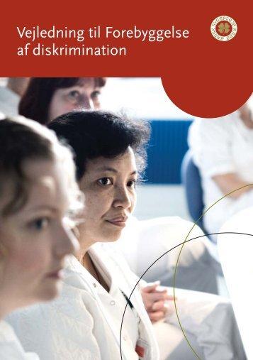 Vejledning til Forebyggelse af diskrimination - Dansk Sygeplejeråd
