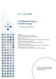 Utviklingshemming og seksuelle overgrep - Sykehuset Innlandet HF