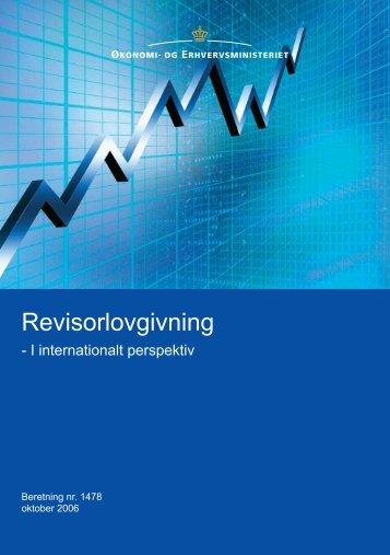 Revisorlovgivning i internationalt perspektiv - Erhvervsstyrelsen