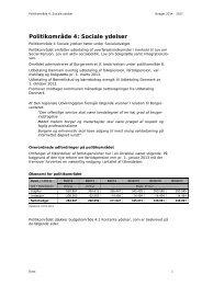 Politikområde 4: Sociale ydelser - Bornholms Regionskommune