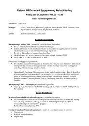 Referat MED-møde i Sygepleje og Rehabilitering
