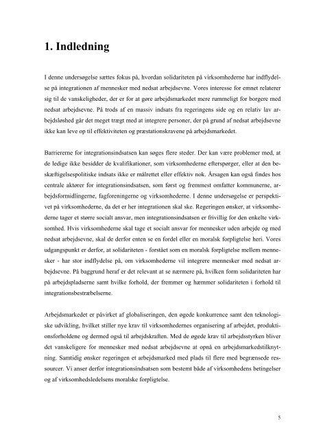 5. Integration på arbejdsmarkedet
