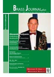 BRASS Journalplus - Wolfgang G. Haas. - Musikverlag Köln ek