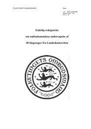 Endelig redegørelse om ombudsmandens undersøgelse af 40 ...