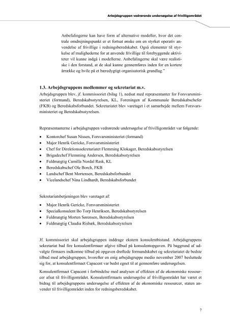 Undersøgelse af frivilligområdet - Beredskabsforbundet