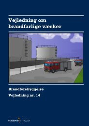 Vejledning om brandfarlige væsker - Beredskabsstyrelsen