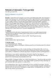 Referater af rådsmøder i Forbrugerrådet - Tænk