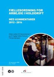 Fællesordning For arbejde i holddriFt - DI