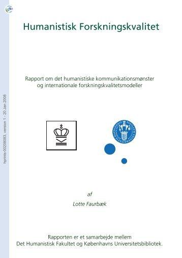 [hprints-00208083, v1] Humanistisk Forskningskvalitet - Hprints.org