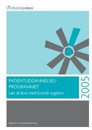 PATIENTUDDANNELSES- PROGRAMMET - Sundhedsstyrelsen